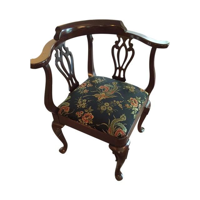 Vintage Ethan Allen Corner Chair - Image 1 of 5