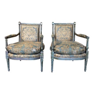 Louis XVI Style Fauteuil - A Pair For Sale