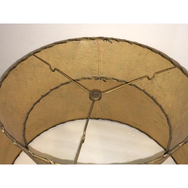 Mid-Century Atomic 2-Tier Fiberglass Lampshade - Image 4 of 6