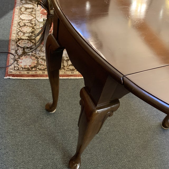 Queen Anne Style Dropleaf + Drawer Side Table For Sale - Image 10 of 11
