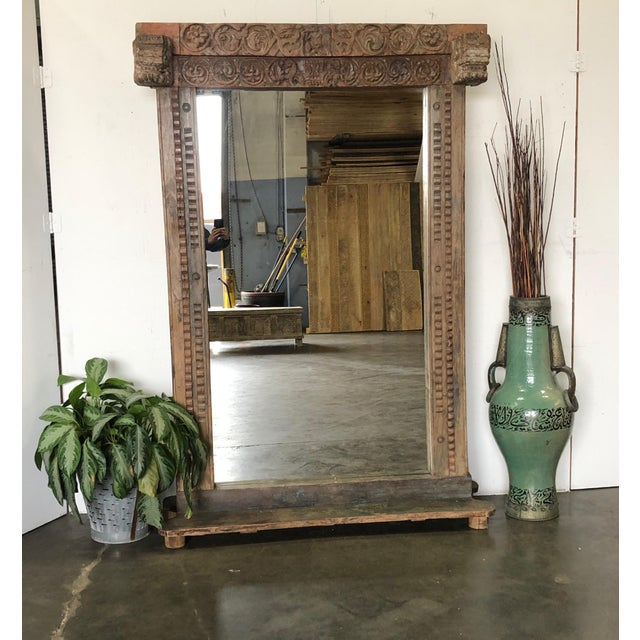 Antique Wood Carved Mirror For Sale - Image 10 of 11