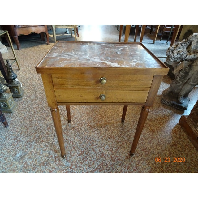 French Marble Side Table For Sale - Image 13 of 13