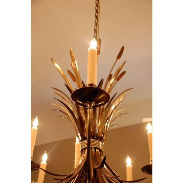 Gold 1960s Maison Charles Large French Chandelier For Sale - Image 8 of 9