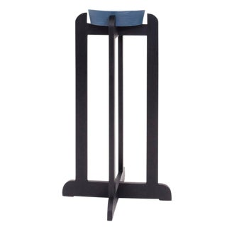 Asa Pingree Qe2 Plant Stand in Ebonized Maple For Sale