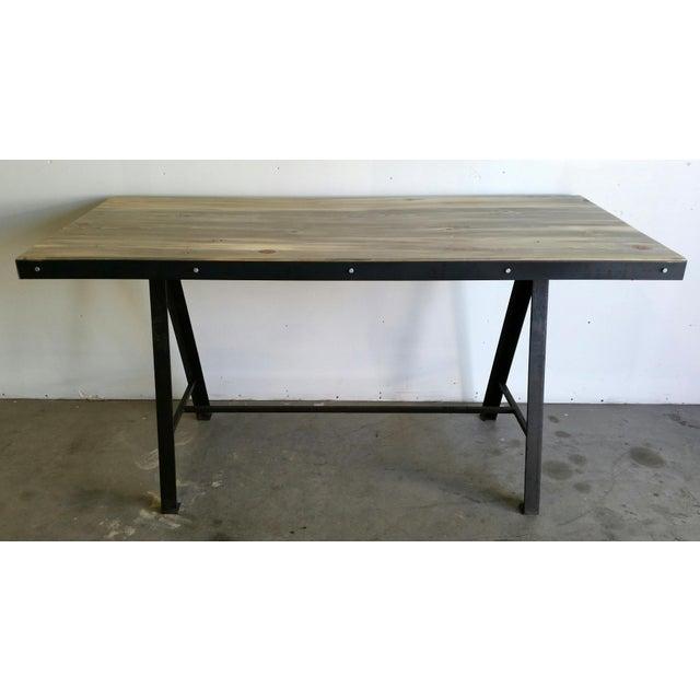 Vintage Industrial Reclaimed Table - Image 3 of 7