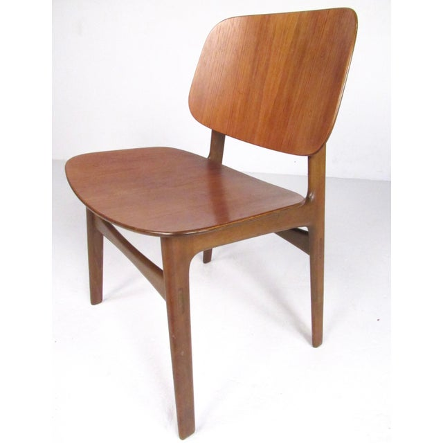 Danish Modern Mid-Century Børge Mogensen Dining Chairs, Model 155 For Sale - Image 3 of 11
