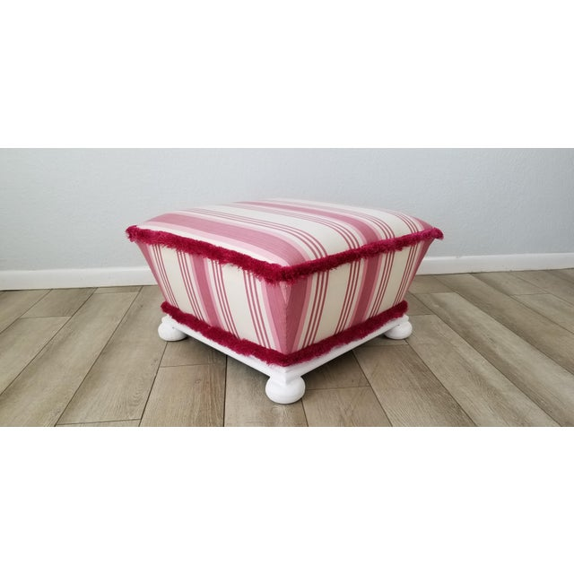 Hollywood Regency Style Ottoman . For Sale - Image 10 of 12