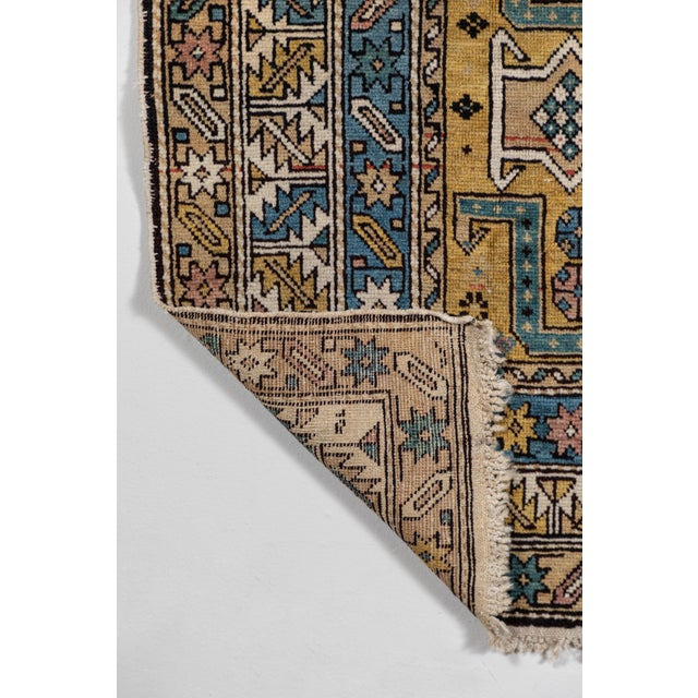 Blue Shirvan 19th Century Caucasian Rug - 3′10″ × 4′10″ For Sale - Image 8 of 9