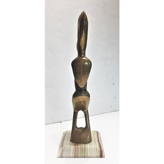 American Mid-Century Modern, an Alien, Polished Bronze Sculpture, Circa 1960s For Sale - Image 4 of 5