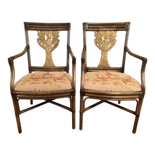 20th Century Asian Bamboo Chairs-A Pair For Sale