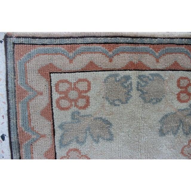 Orange Oriental Handmade Runner Rug - 2′5″ × 11′4″ For Sale - Image 8 of 9
