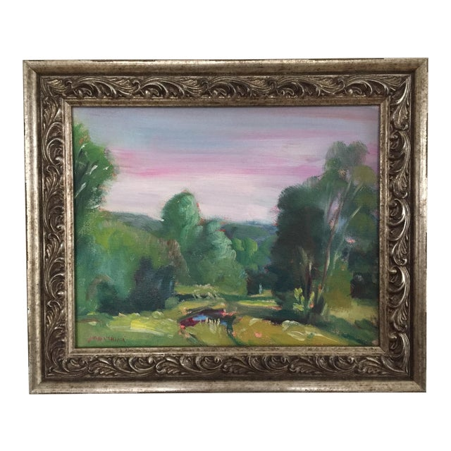 Missouri Ozark Countryside Impressionistic Plein Air Painting For Sale