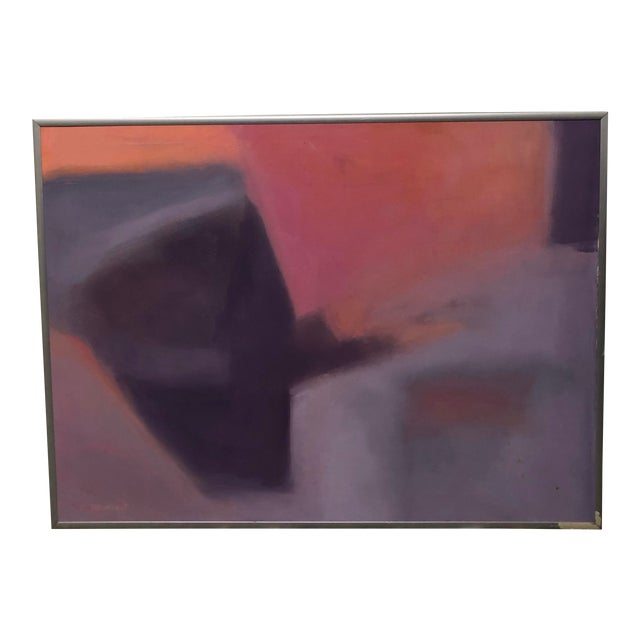 """1970s """"Beginnings"""" by Ellen Reinkraut Original Abstract Expressionist Painting For Sale"""