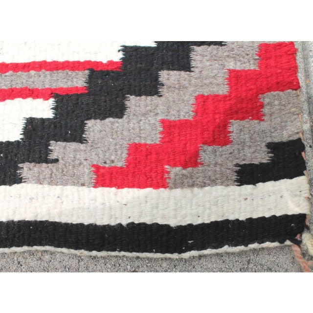 1950s Third Phase Old Style Granado Navajo Weaving For Sale - Image 5 of 5