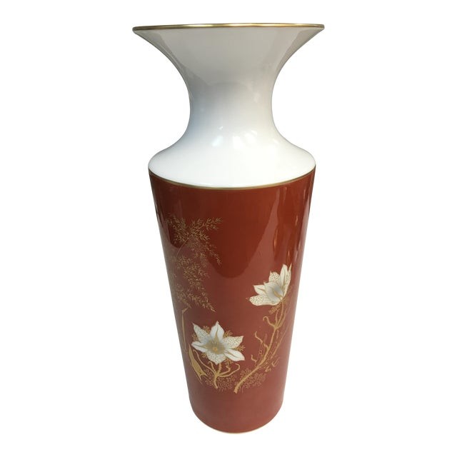 Jaeger & Co. Hand-Painted Vase For Sale