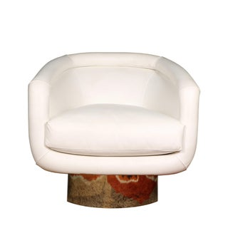 Leon Rosen for Pace Collection Swivel Lounge Chair