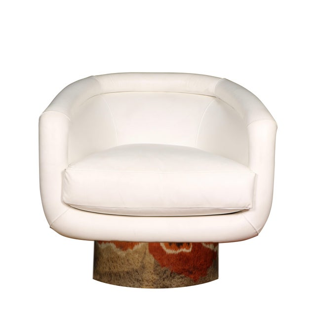 Leon Rosen for Pace Collection Swivel Lounge Chair For Sale