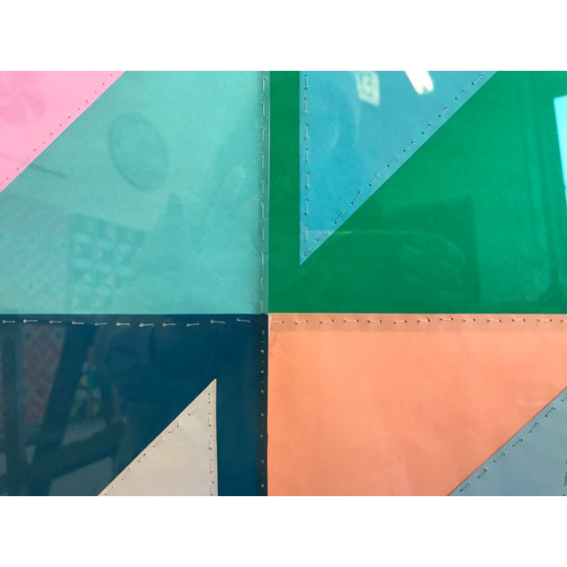 2010s Natasha Mistry Contemporary Geometric Patchwork Collage For Sale - Image 5 of 13