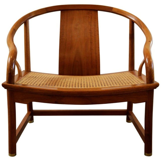 Caning Michael Taylor for Baker Far East Collection Caned Chair For Sale - Image 7 of 7