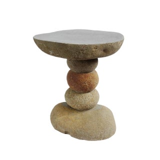 Stacked River Rock Stool / Table