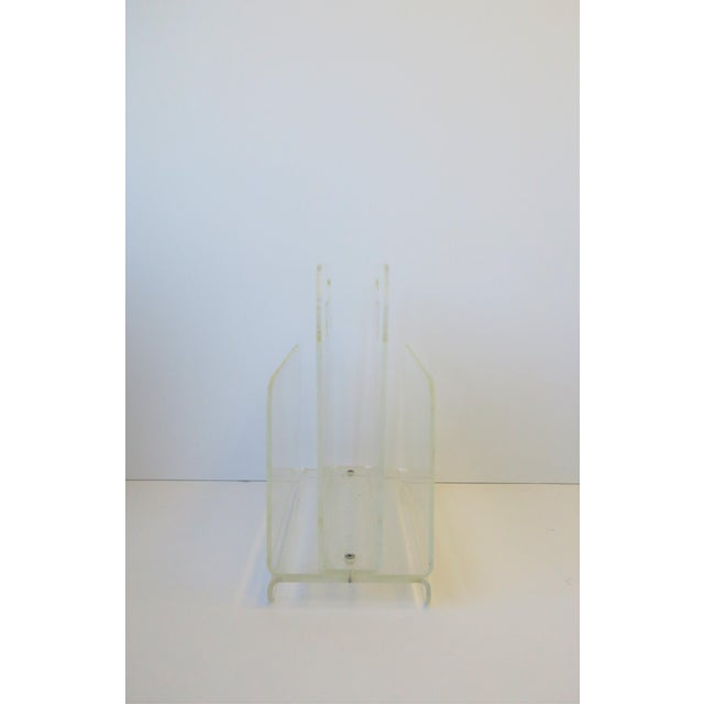 Clear Acrylic Magazine Holder, Circa 1976 For Sale - Image 11 of 13