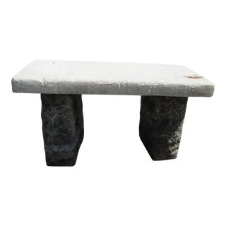 1970s Vintage Stone Block Garden Bench For Sale