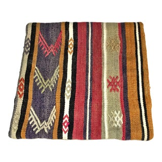 Turkish Wool Kilim Pillow Cover For Sale