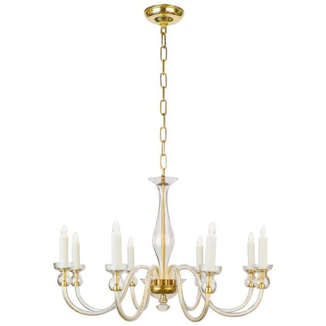 Murano Amber Glass Eight-Arm Chandelier For Sale - Image 11 of 11