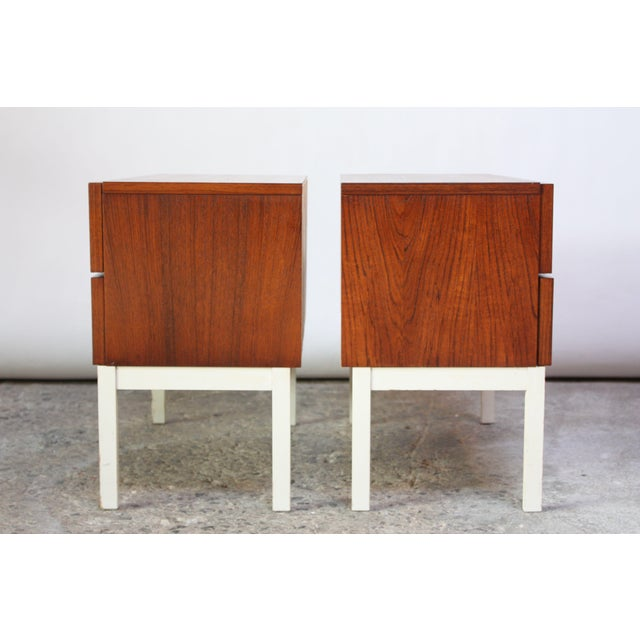 Pair of Danish Modern Teak 2-Drawer Nightstands - Image 6 of 9
