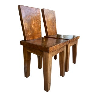 Sculptural Organic Modernist Chairs/2 For Sale