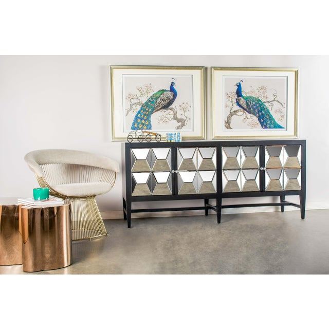 Contemporary Contemporary Wooden & Glass Spike Sideboard For Sale - Image 3 of 6