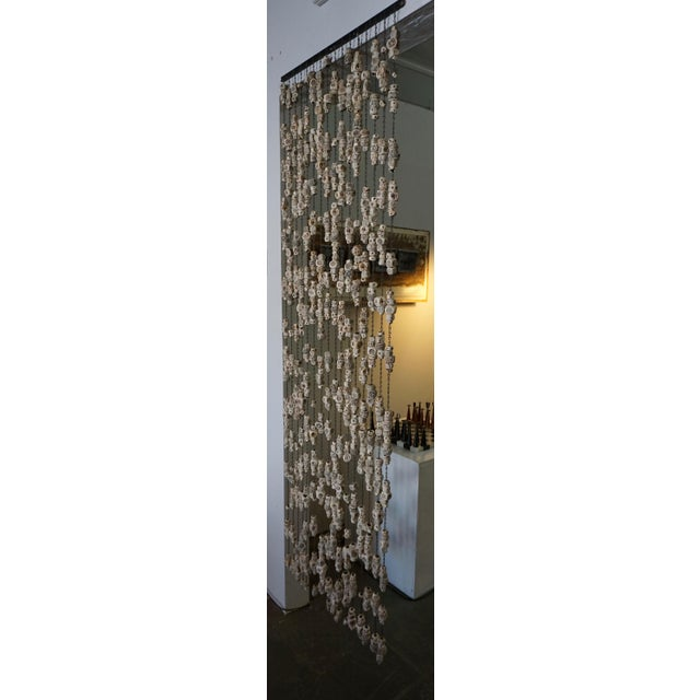 60's Ceramic Bead Tapestry/Room Divider For Sale - Image 4 of 8