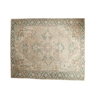 "Vintage Distressed Mehrivan Square Carpet - 8'4"" X 9'7"""