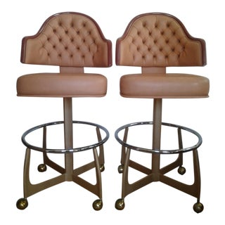 Mid-Century Style Gasser Bar Chairs - a Pair