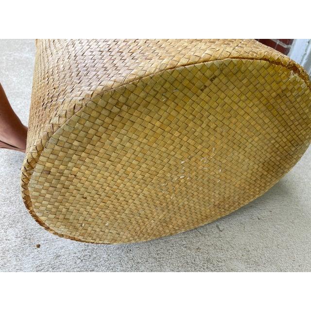 Wicker Woven Wicker Hamper For Sale - Image 7 of 9