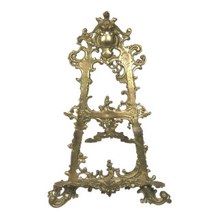 Victorian Brass Table Easel For Sale