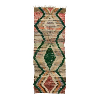 Boho Chic Vintage Berber Moroccan Rug with Modern Tribal Design For Sale