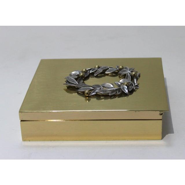 Metal Vintage Vassilis Zoulias. Brass Box For Sale - Image 7 of 13