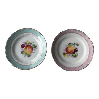 Early 21st Century Antique German Fruit Plates- A Pair For Sale