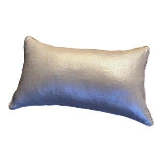 Kravet Fabric Silver Bolster Pillow From For Sale