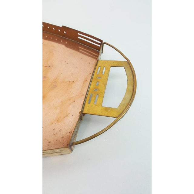 A Brass and Copper Tray by Serrurier-Bovy For Sale In New York - Image 6 of 7