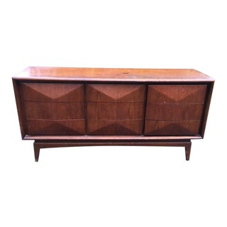 Mid Century Modern Diamond Front Dresser by United For Sale