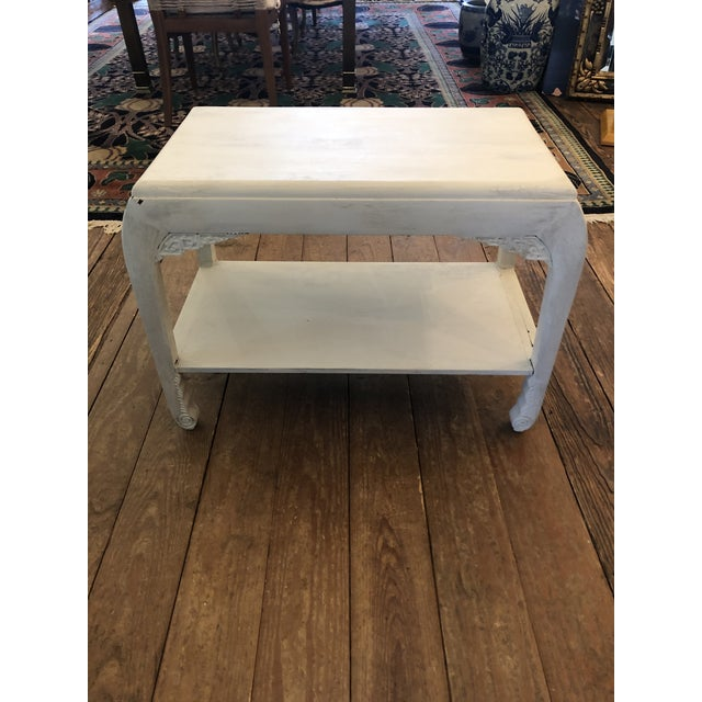 Chinese Whitewashed Painted Rectangular Low Side Table For Sale - Image 11 of 13