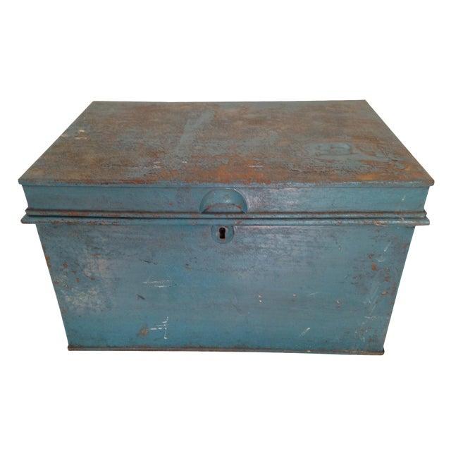 Vintage Metal Locking Box - Image 1 of 8