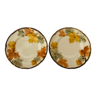 "Vintage Franciscan China ""October Pattern"" Set of 2 Salad Plates For Sale"
