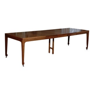 Breathtaking Vintage Baker Extension Dining Table in Walnut For Sale