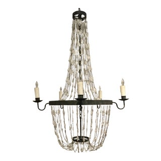 Regina Andrew Transitional Quartz and Iron Chandelier For Sale