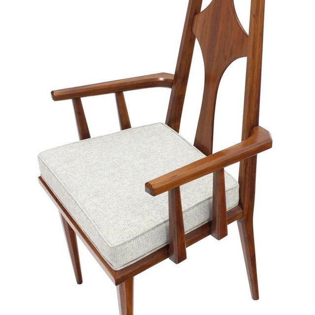 Set of Six Swedish Dining Chairs New Upholstery For Sale In New York - Image 6 of 10