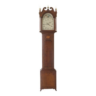 1990s Vintage Henry Ford Greenfield Village Tall Federal Grandfather Clock For Sale