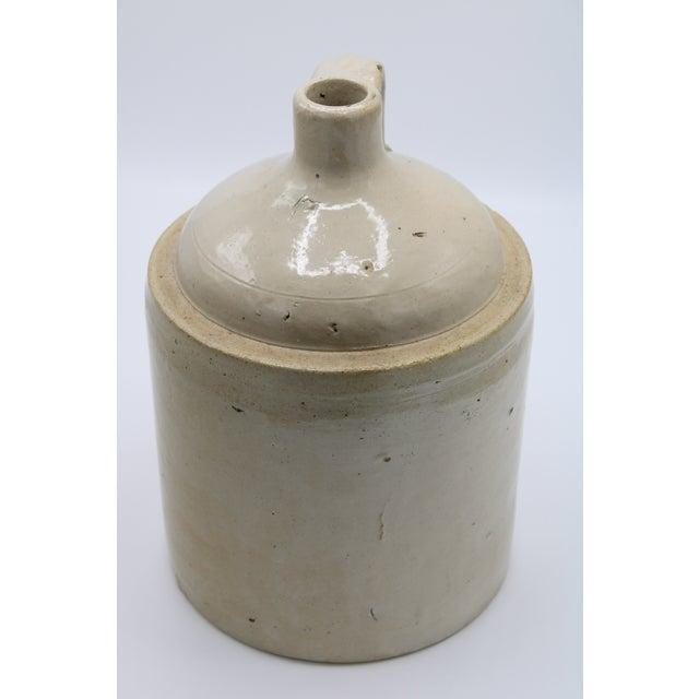 Antique White Antique Stoneware Farmhouse Crock Jugs - a Pair For Sale - Image 8 of 10
